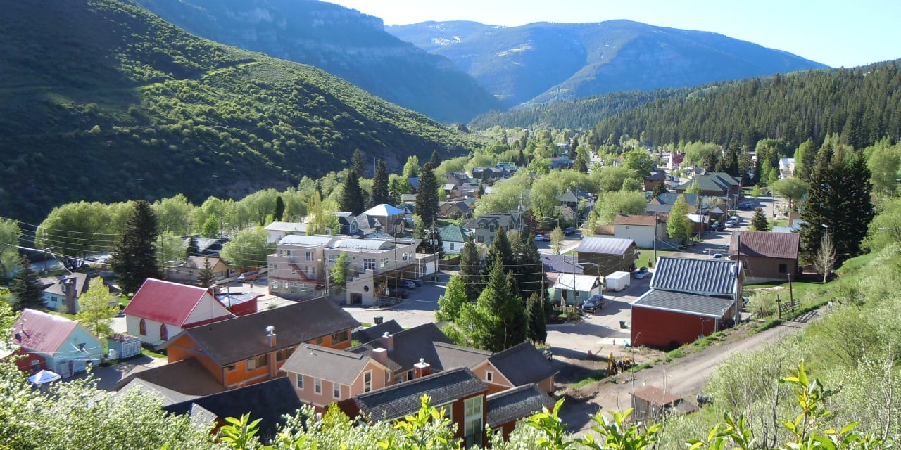 Minturn Colorado Aerial View
