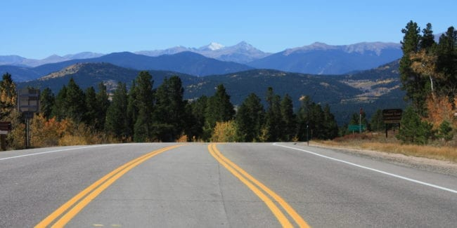 Peak to Peak National Scenic Byway Colorado