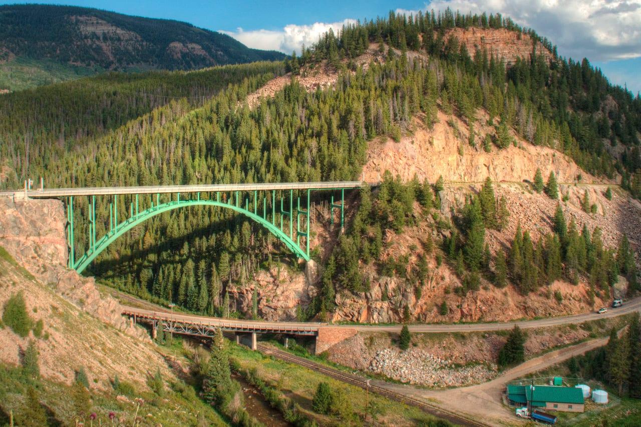 Eagle River Bridge Red Cliff Colorado