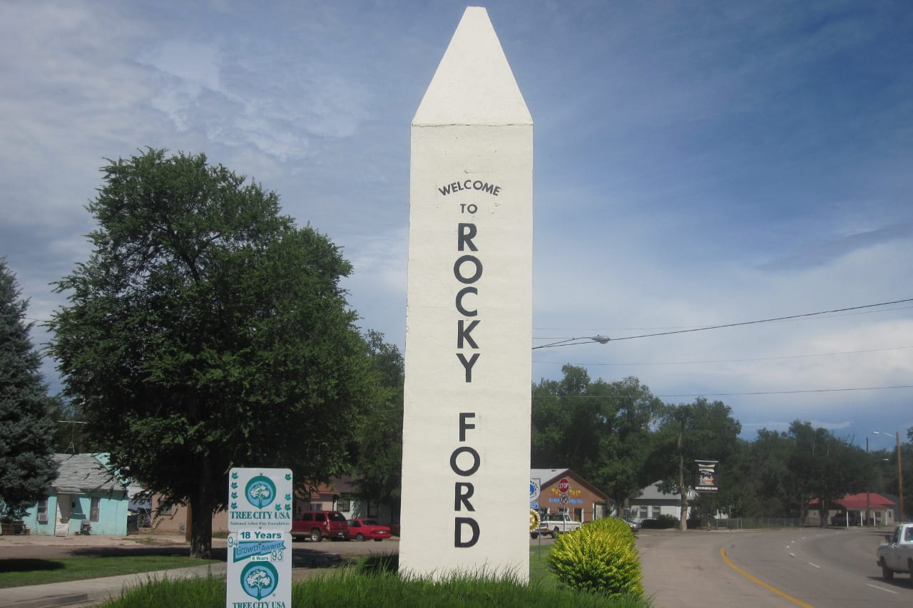 Rocky Ford Colorado Welcome Sign