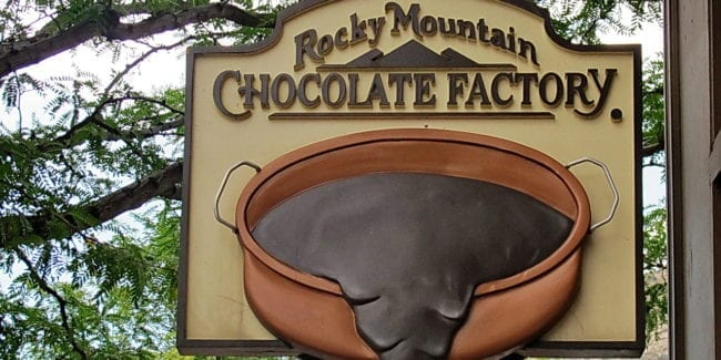 Rocky Mountain Chocolate Factory Sign Durango Colorado