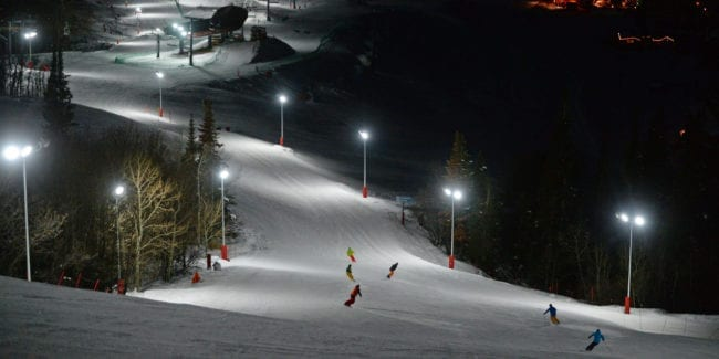 Steamboat Ski Resort Night Skiing Colorado