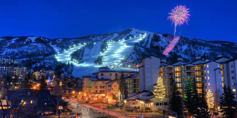 Steamboat Ski Resort Night Skiing Stars