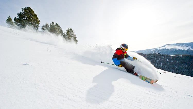 Vail Ski Resort Blue Sky Skier