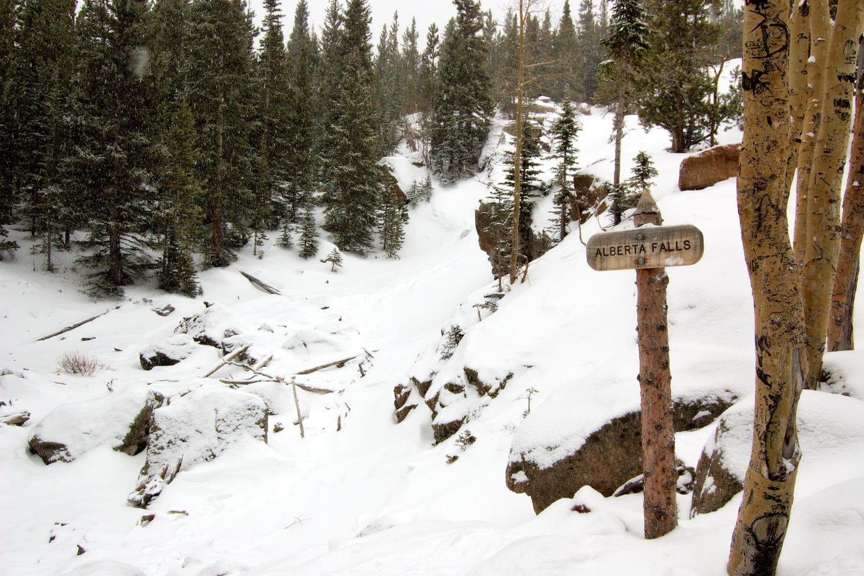 Alberta Falls Winter Colorado