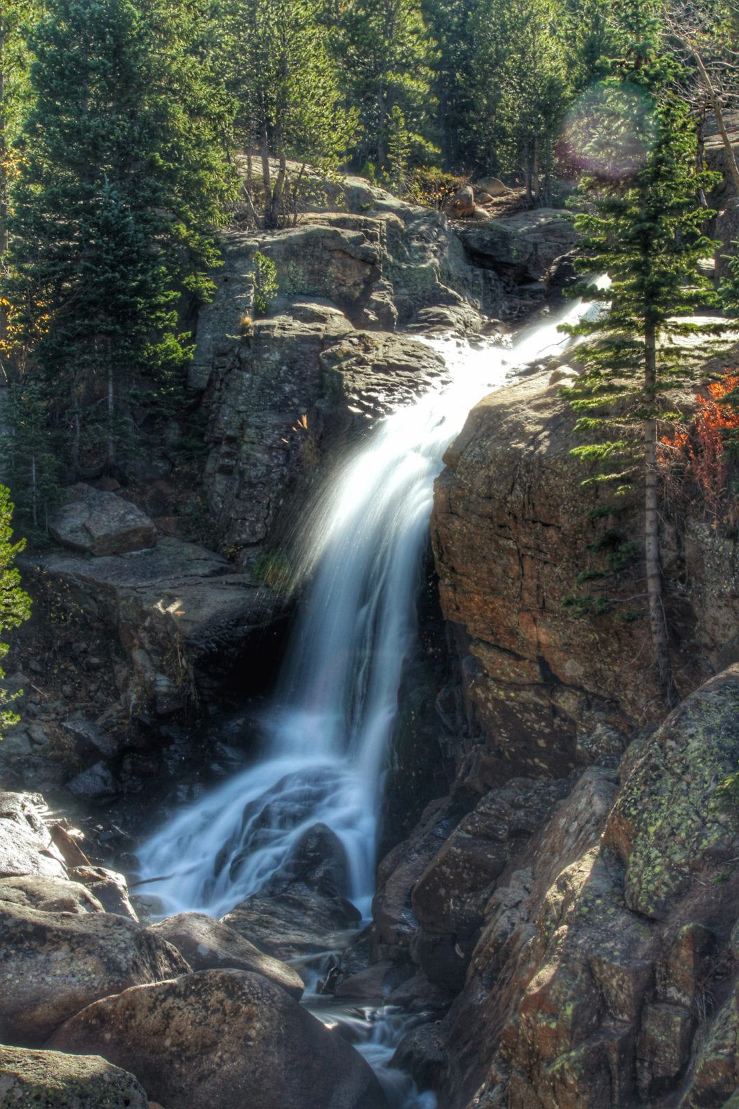 Alberta Falls Waterfall Colorado