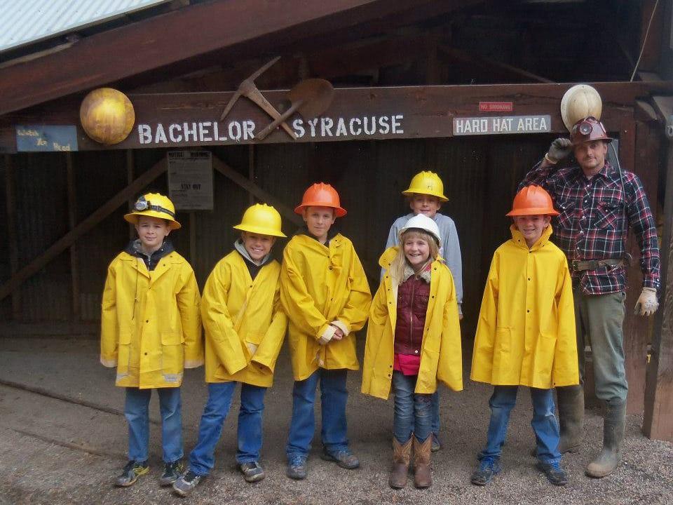 Bachelor Syracuse Mine Tour Hard Hats