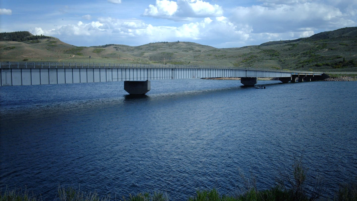 Blue Mesa Reservoir Middle Bridge Colorado