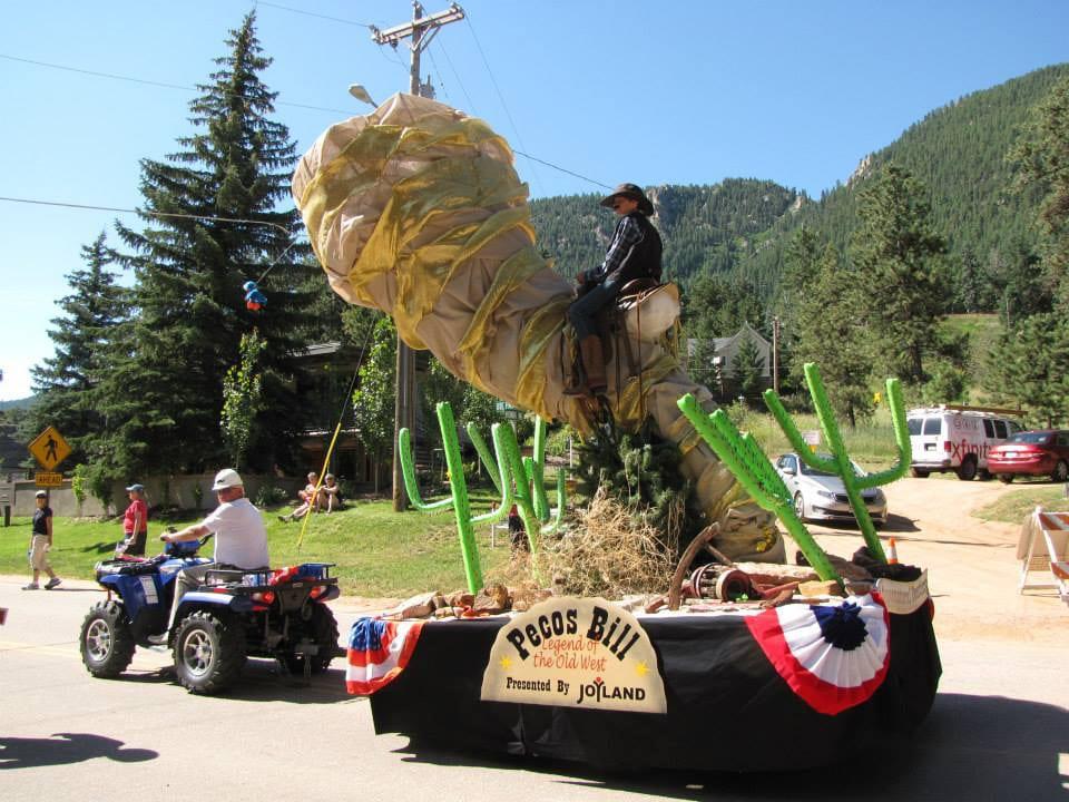 Bronc Day Festival Parade Pecos Bills Float Colorado