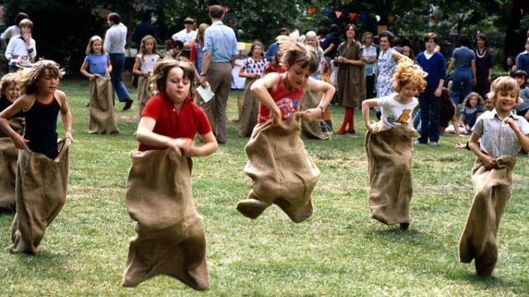 Bronc Day Festival Sack Race Green Mountain Falls Colorado