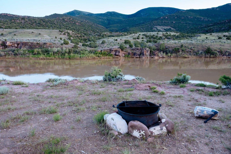 Browns Park National Wildlife Refuge Campsite Firepit