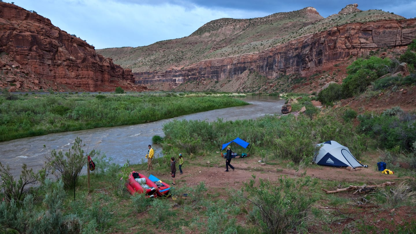 Camping Rafting Gunnison River Colorado