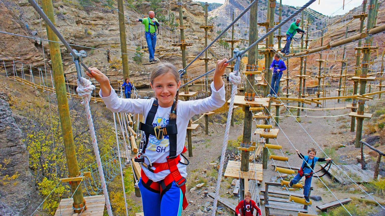 Captain Zipline Canyon Aerial Course
