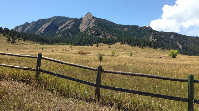 Chautauqua Park Flatirons Boulder Colorado