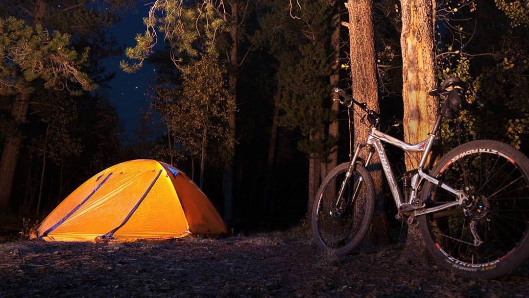 Kenosha Pass Campsite Tent Bike