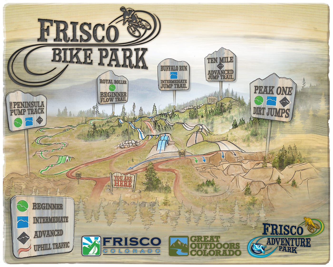 Frisco Bike Park Map