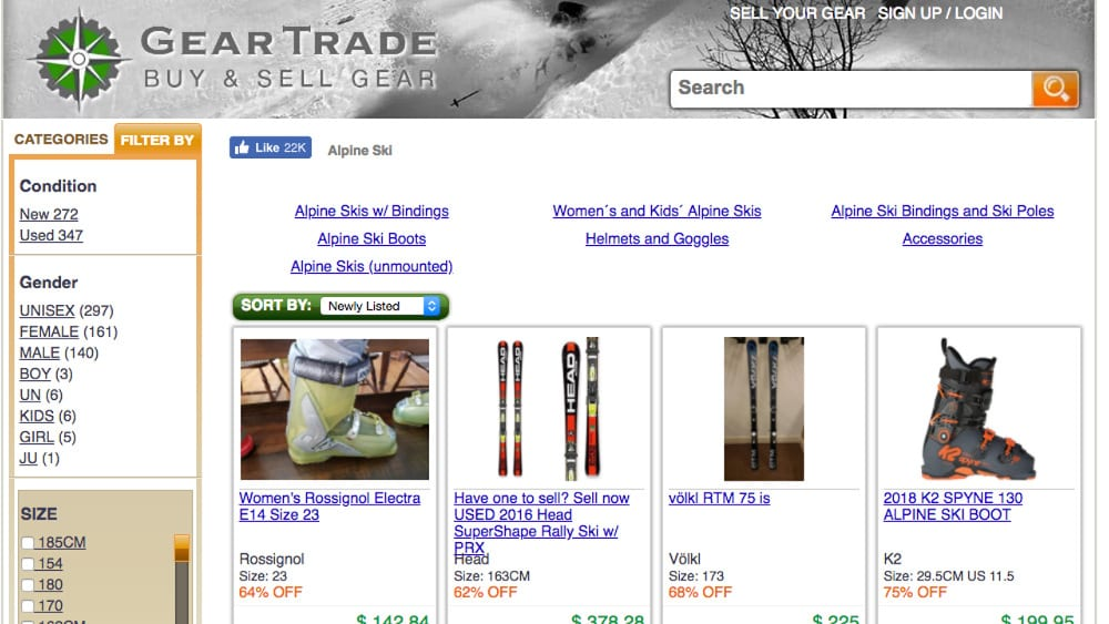 GearTrade Sell Skis Online