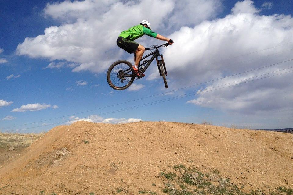 Golden Bike Park Jump Colorado