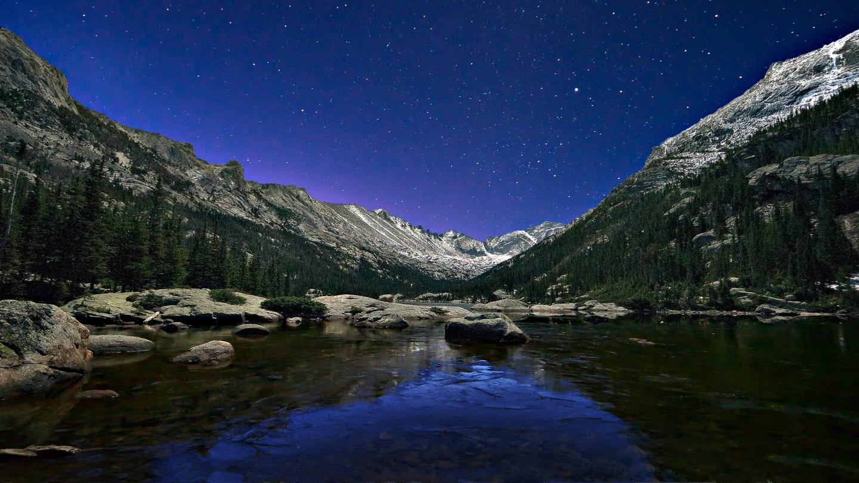 Mills Lake Before Sunrise Colorado