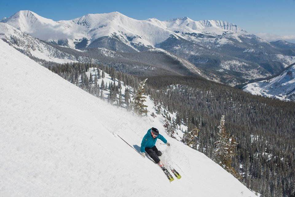 Monarch Mountain Ski Resort Downhill Skier