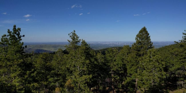 Mount Falcon Denver Colorado Aerial