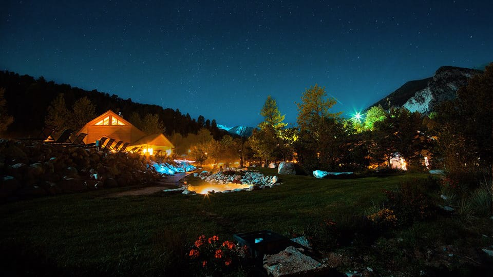 Mount Princeton Hot Springs Nathrop Night