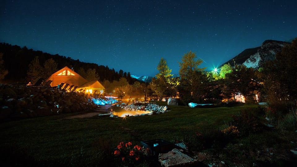 Mount Princeton Hot Springs Nathrop Night