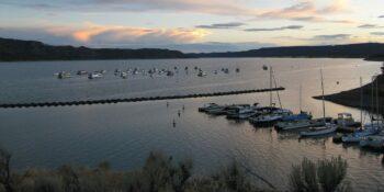 Navajo Lake Sunset Rosa Campground Arboles Colorado