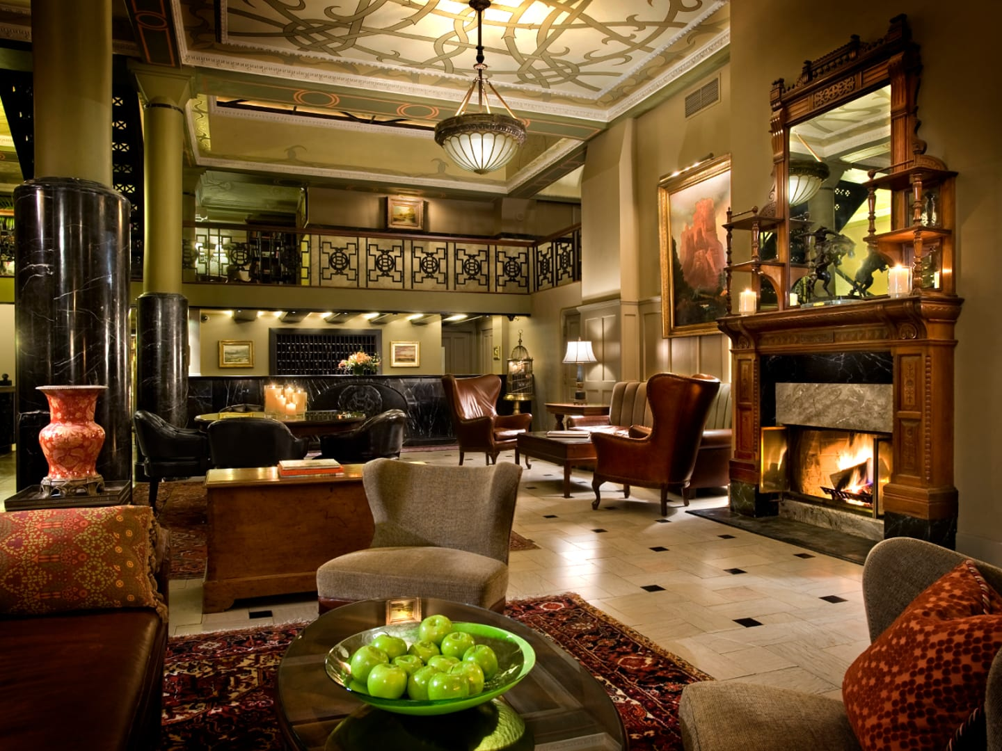 Oxford Hotel Lobby Denver Colorado
