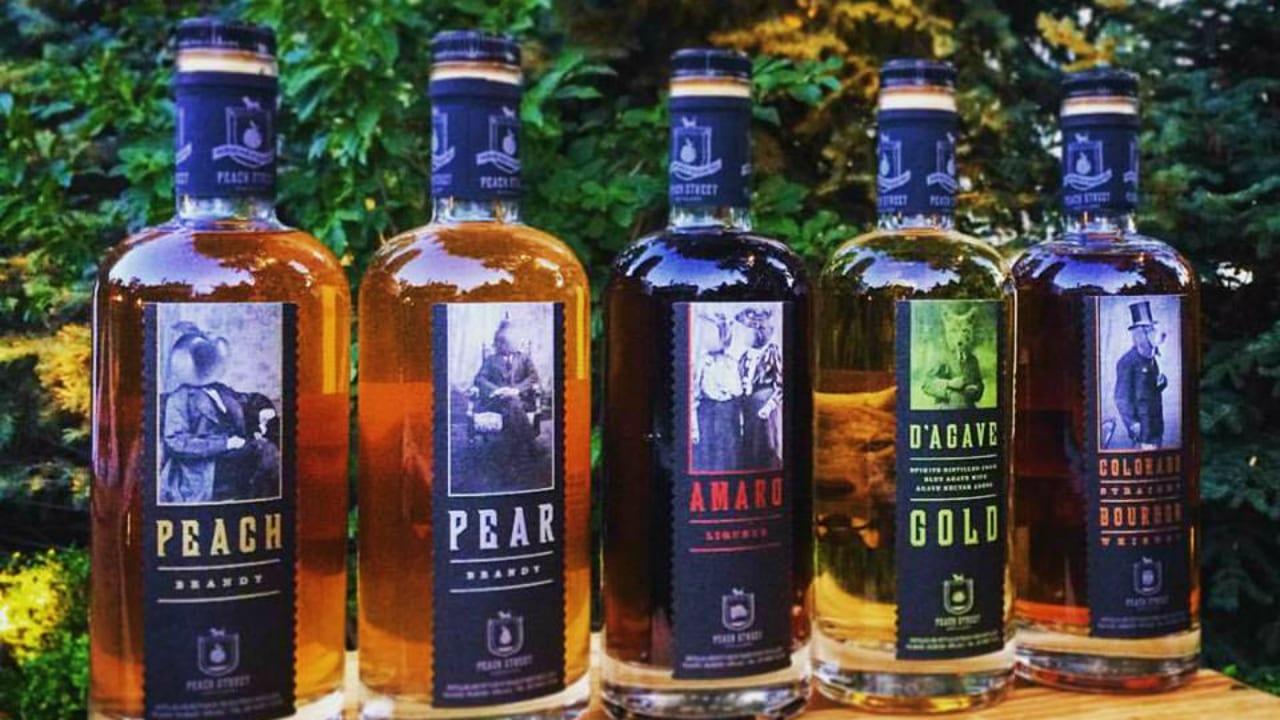 Peach Street Distillers Liquor Bottles