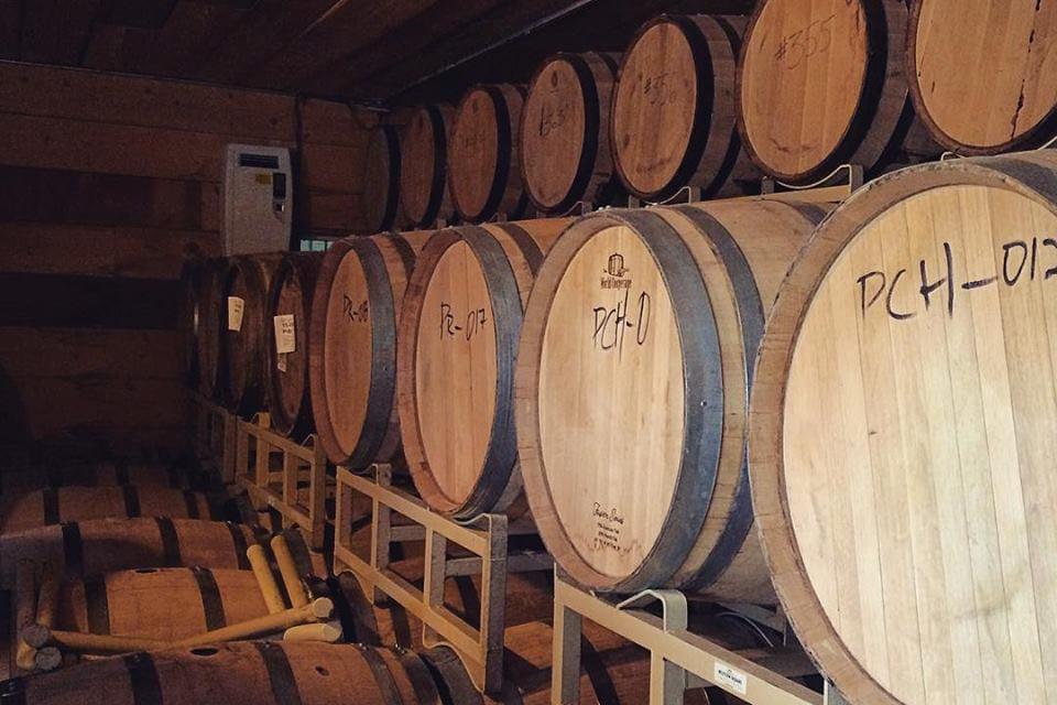 Peach Street Distillers Whiskey Barrels