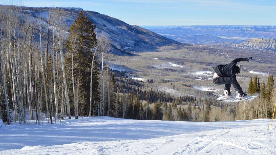 Powderhorn Ski Resort Grand Mesa Snowboarder Jump