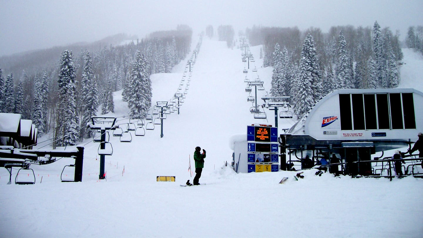 Purgatory Mountain Ski Resort Snowy Day