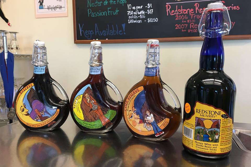 Redstone Meadery Special Release Mead Bottles