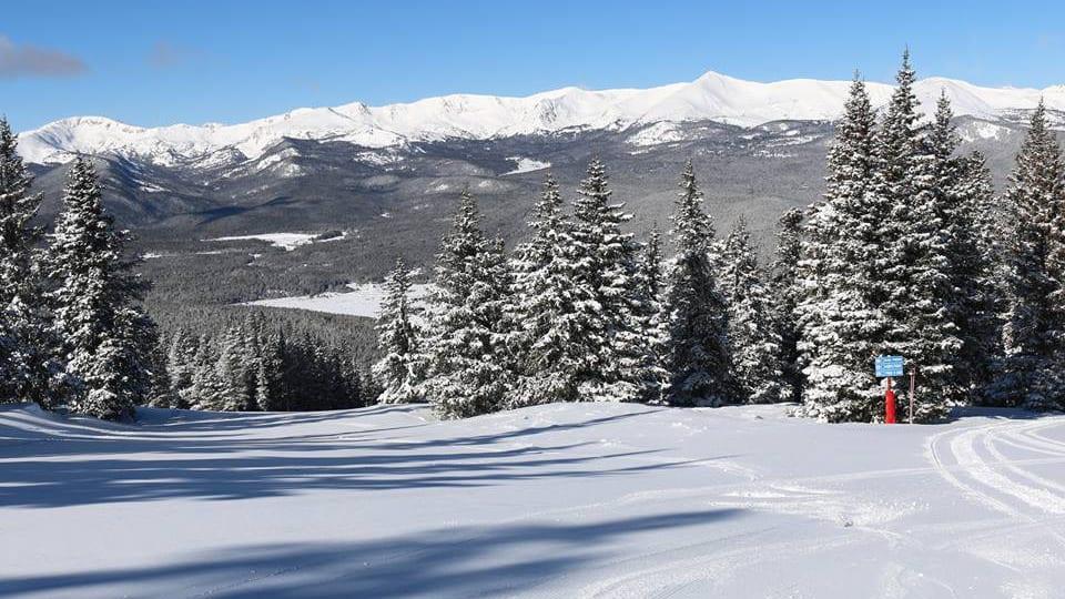 Ski Cooper Leadville Colorado Blue Sky