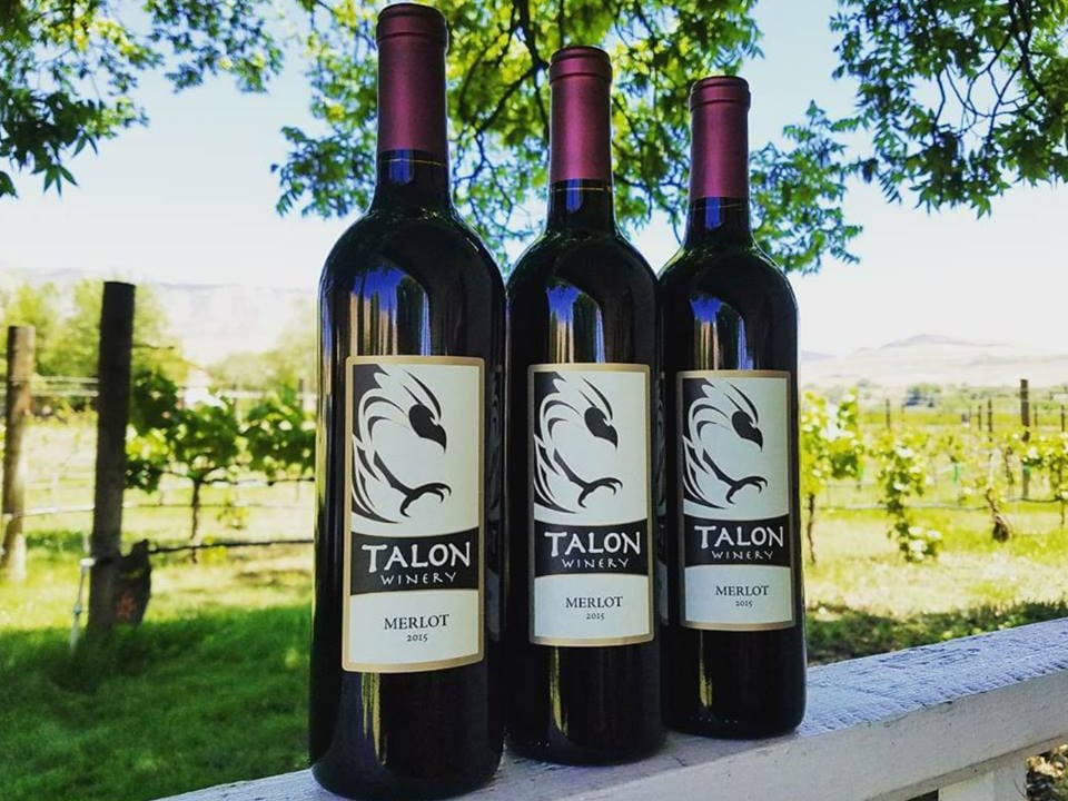 Talon Winery Merlot Bottles