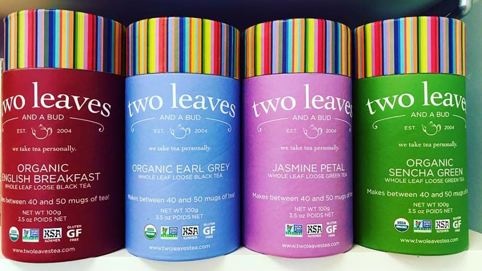 Two Leaves and a Bud Tea Cylinders