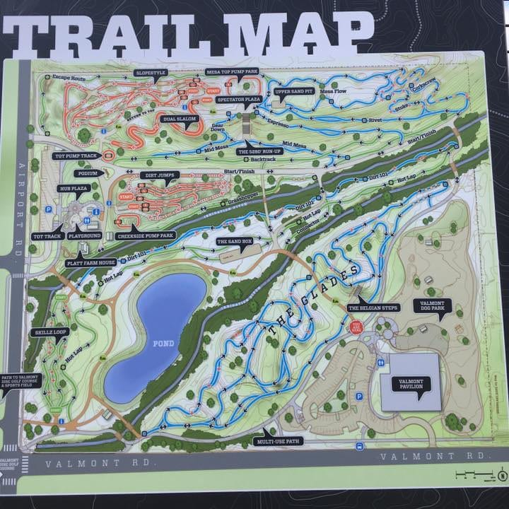 Valmont Bike Park Trail Map