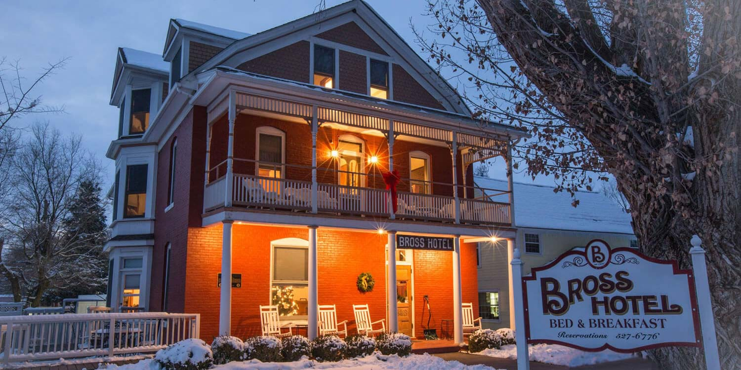 Paonia CO Bross Hotel Bed and Breakfast Exterior