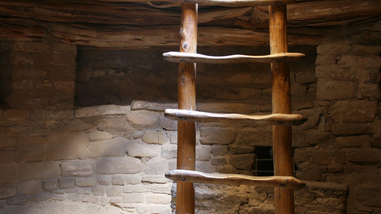 Balcony House Ladder Mesa Verde