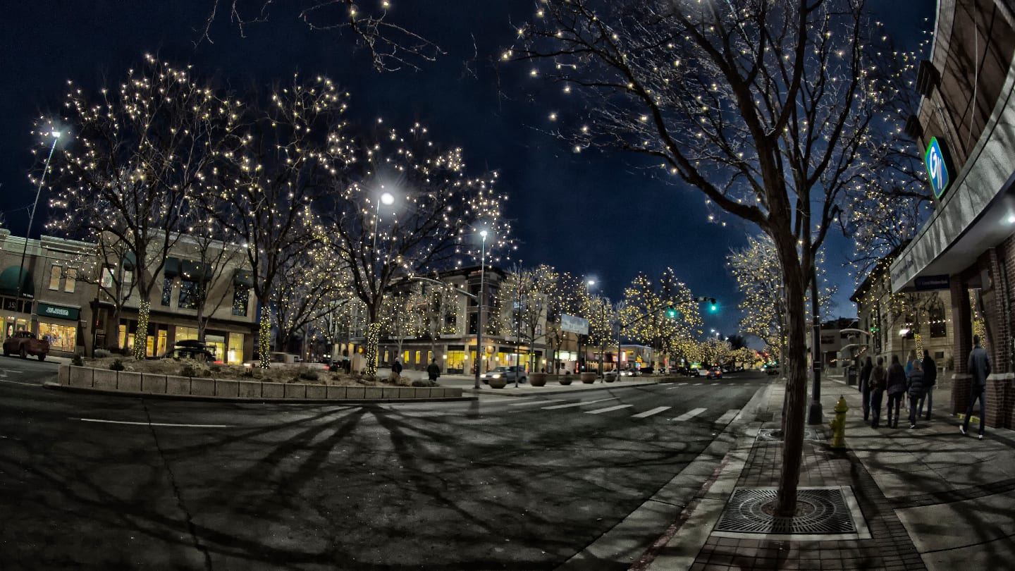 Fort Collins Downtown Colorado Night