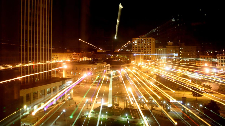 Colorado Springs Downtown Night Lights
