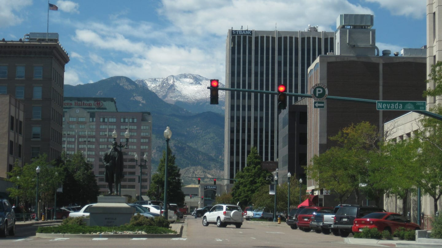 Colorado Springs Downtown Pikes Peak Avenue