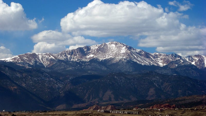 Pikes Peak from UCCS