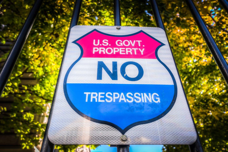 Denver Mint No Trespassing Sign
