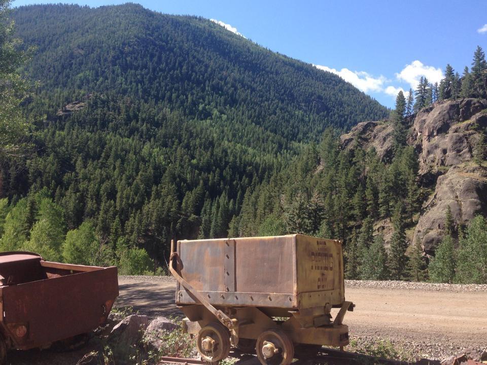 Hard Tack Mine Rail Car Lake City Colorado