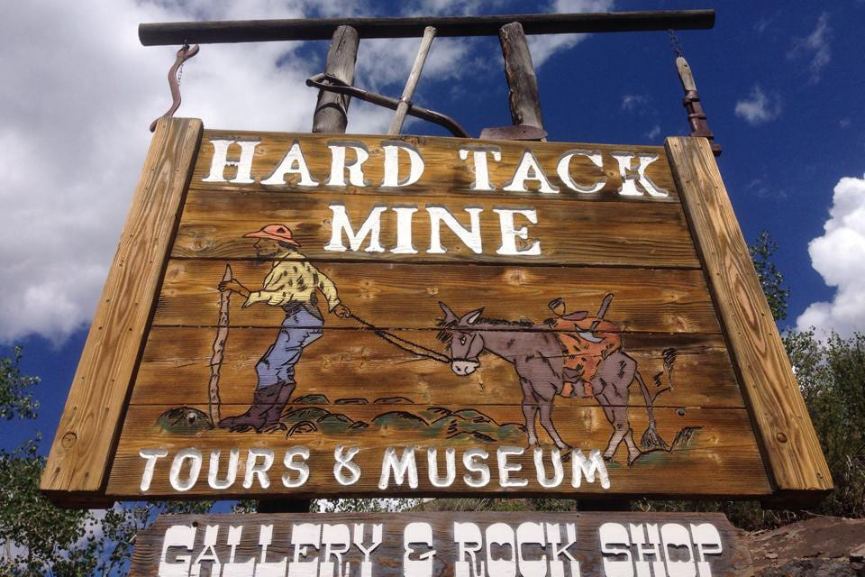 Hard Tack Mine Welcome Sign Colorado
