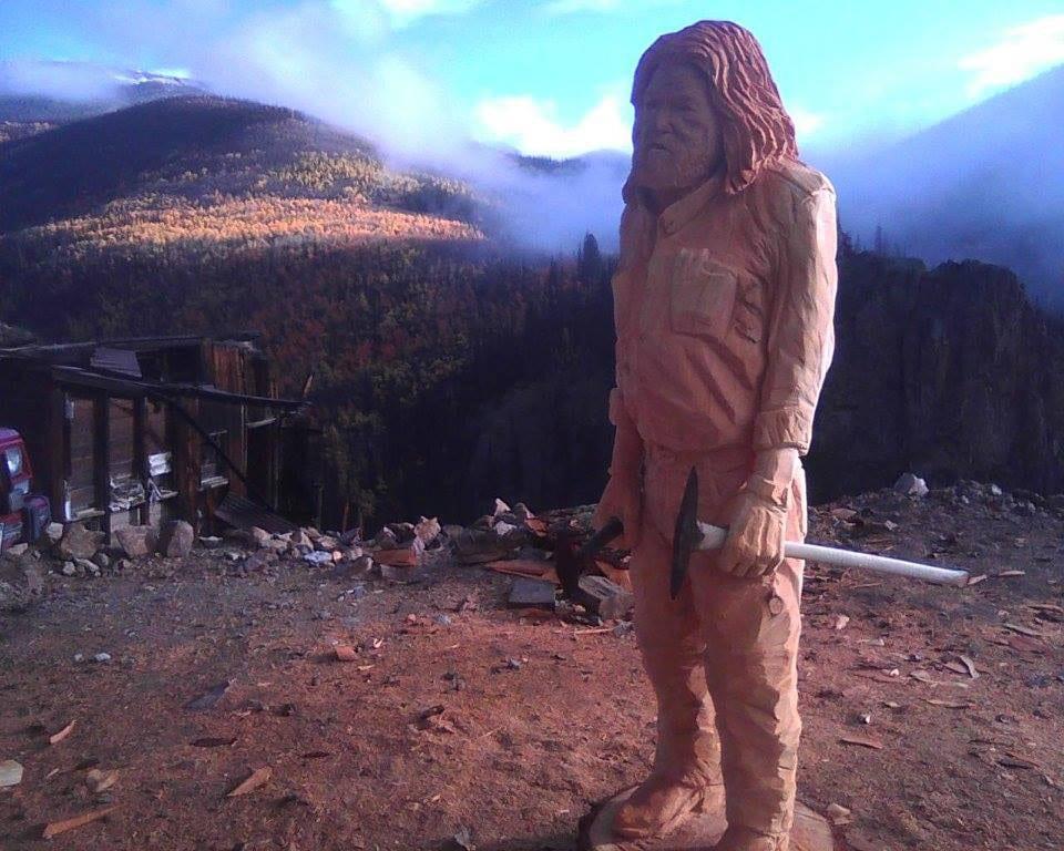 Last Chance Mine Miner Statue Creede