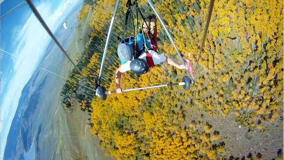 Hang Glide Colorado Golden Autumn Aspens
