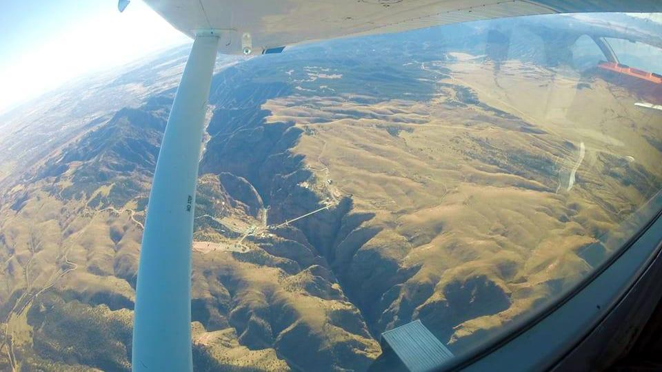 Royal Gorge Skydive Airplane View